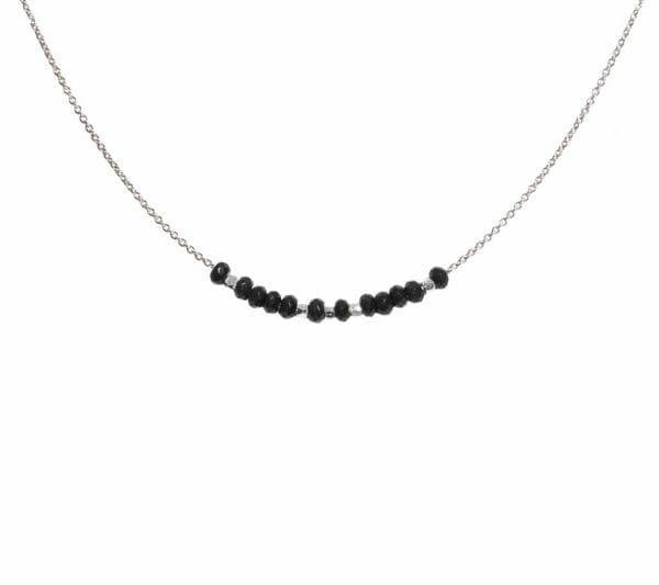 Mas Jewelz necklace 3/4 facet Blackstone Silver