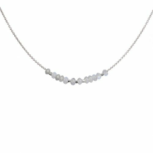 Mas Jewelz necklace 3/4 facet Labradorite Silver