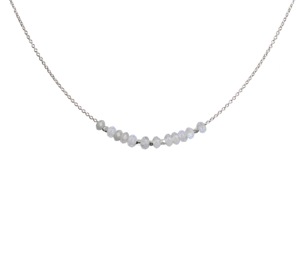 Mas Jewelz necklace 3/4 facet Labradorite Silver