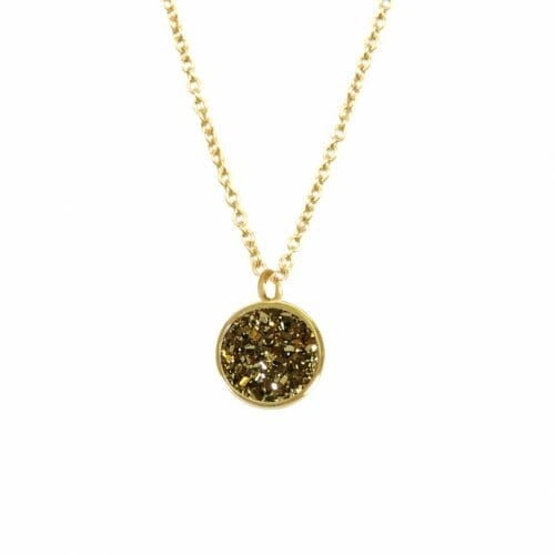 Mas Jewelz necklace Druzy Copper Gold