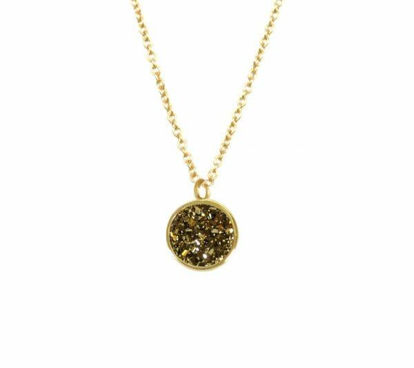 Mas Jewelz necklace Druzy Copper Gold
