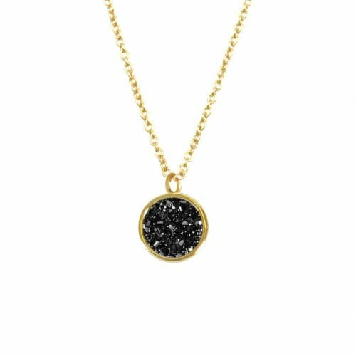Mas Jewelz necklace Druzy Black Gold