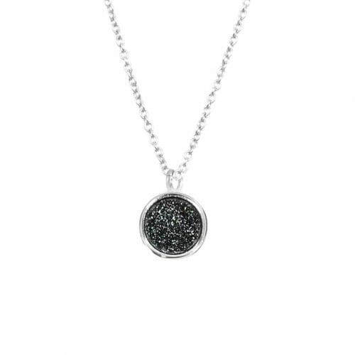 Mas Jewelz necklace Druzy Black Silver