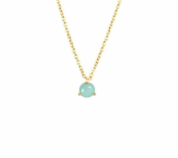 Mas Jewelz necklace Cabuchon Amazonite Gold