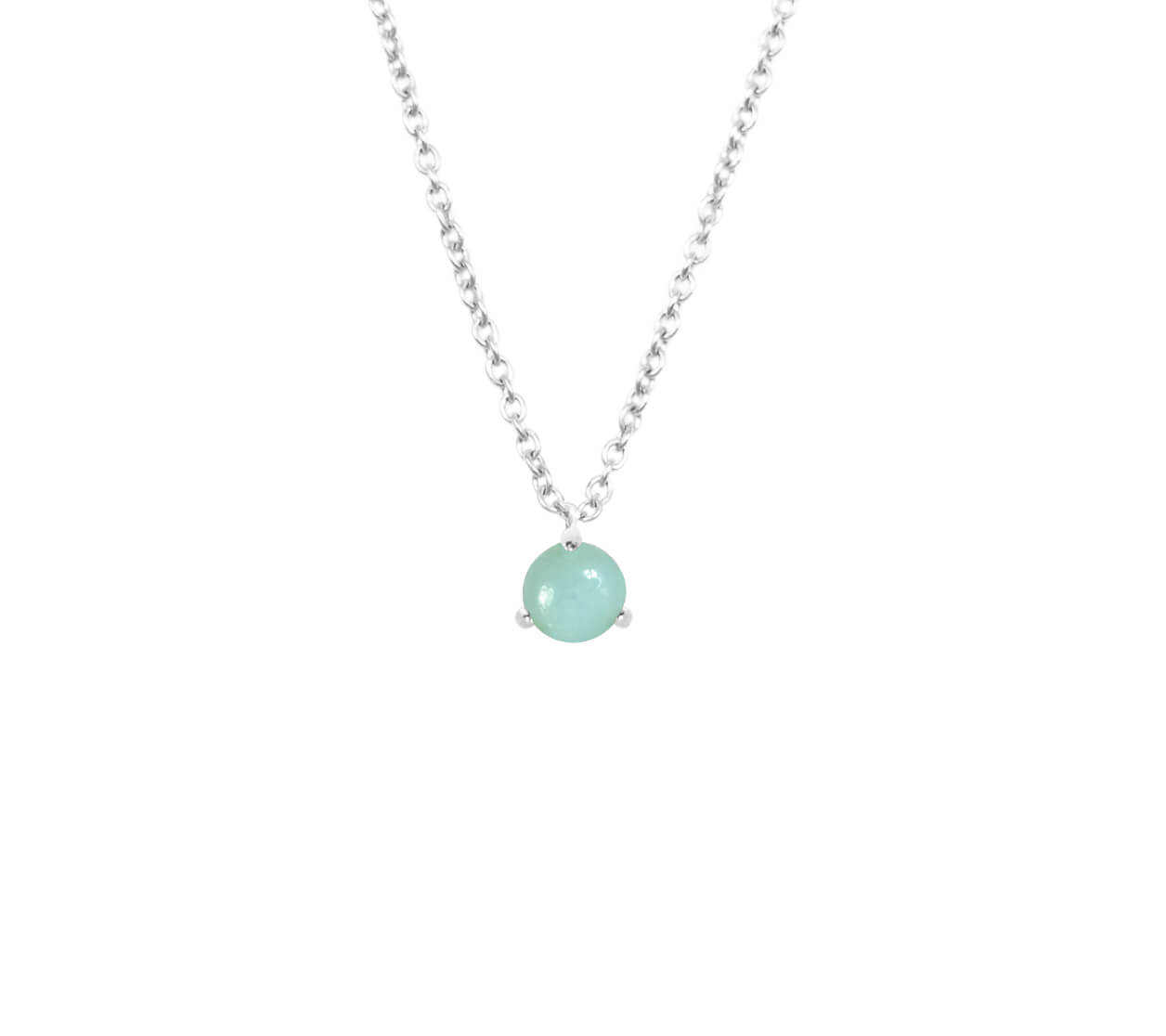 Mas Jewelz necklace Cabuchon Amazonite Silver