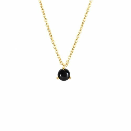 Mas Jewelz necklace Cabuchon Blackstone Gold