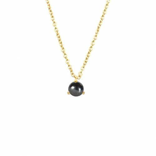 Mas Jewelz necklace Cabuchon Hematite Gold