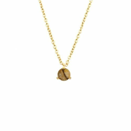 Mas Jewelz necklace Cabuchon Picture Jasper Gold