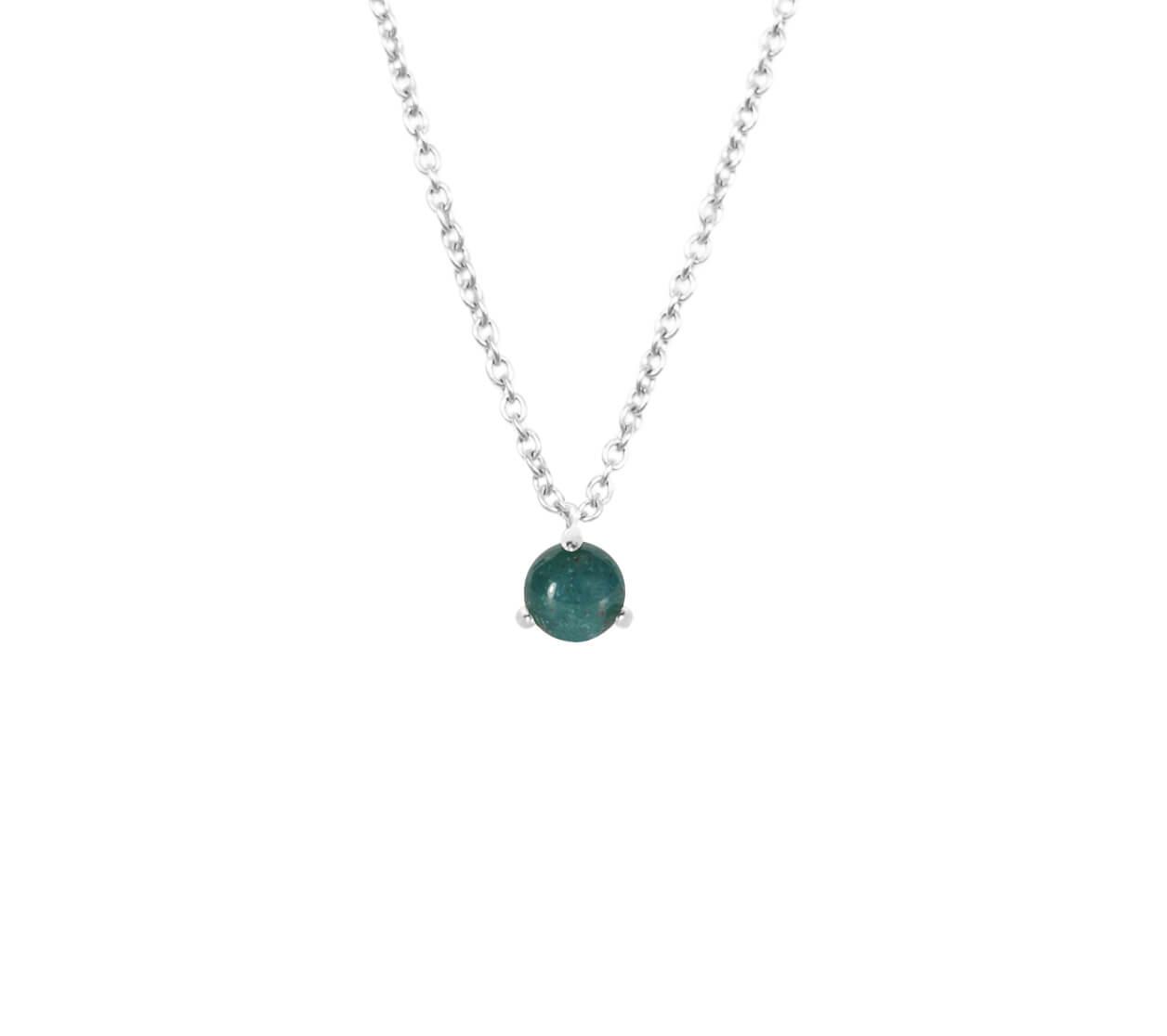 Mas Jewelz necklace Cabuchon Moss Agate Silver
