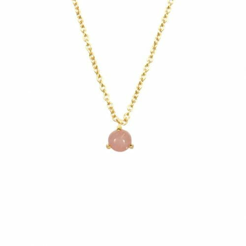 Mas Jewelz necklace Cabuchon Pink Opal Gold