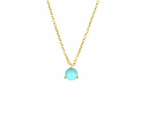 Mas Jewelz necklace Cabuchon Turquoise Gold