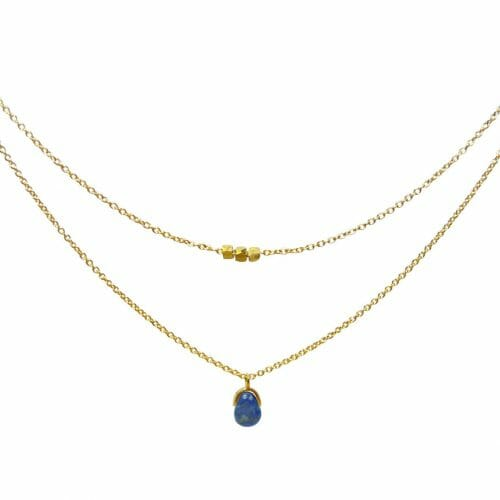 Mas Jewelz necklace Bail double Lapis Lazuli Gold
