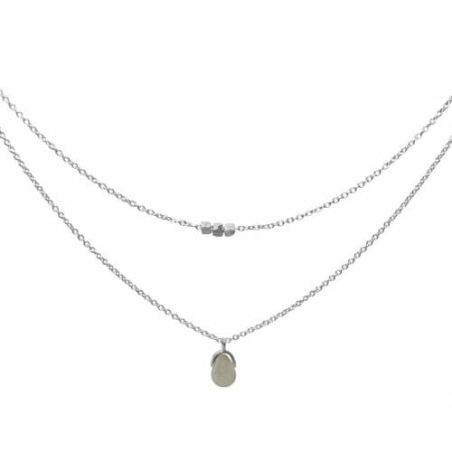 Mas Jewelz necklace Bail double Labradorite Silver