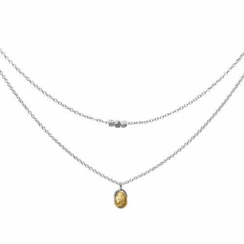 Mas Jewelz necklace Bail double Picture Jasper Silver