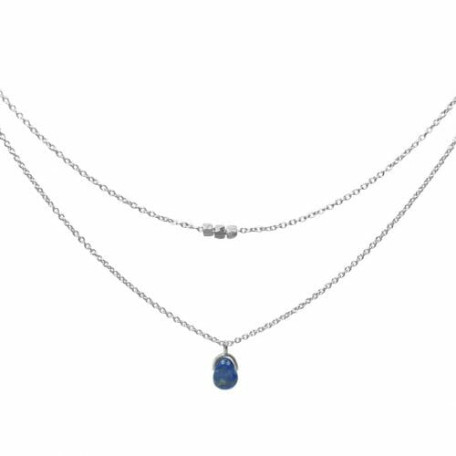 Mas Jewelz necklace Bail double Lapis Lazuli Silver
