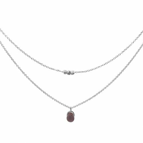Mas Jewelz necklace Bail double Purple Aventurine Silver