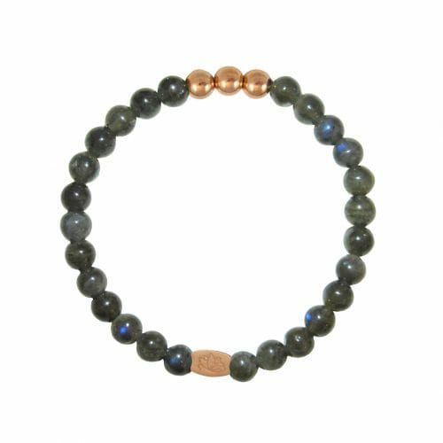 Mas Jewelz 6 mm Labradorite Rose gold
