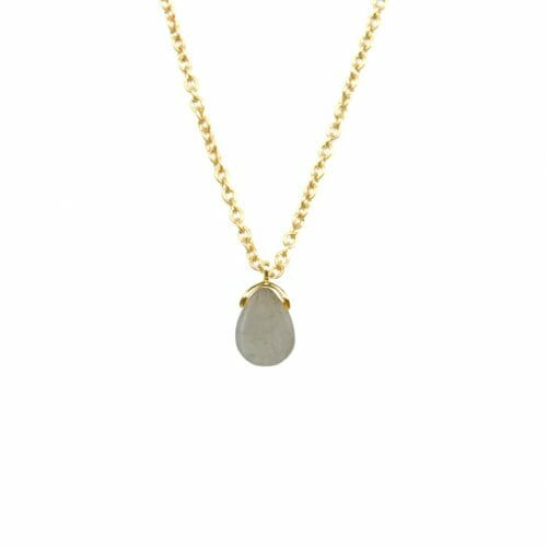 Mas Jewelz necklace Bail Labradorite Gold