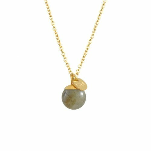 Mas Jewelz necklace Classic Labradorite Gold