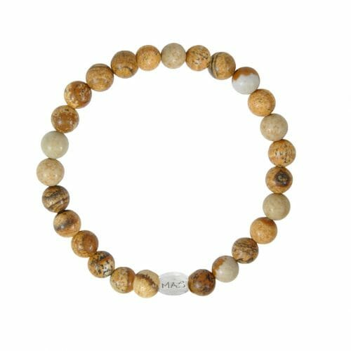 Mas Jewelz Men 6 mm Picture Jasper Model 1
