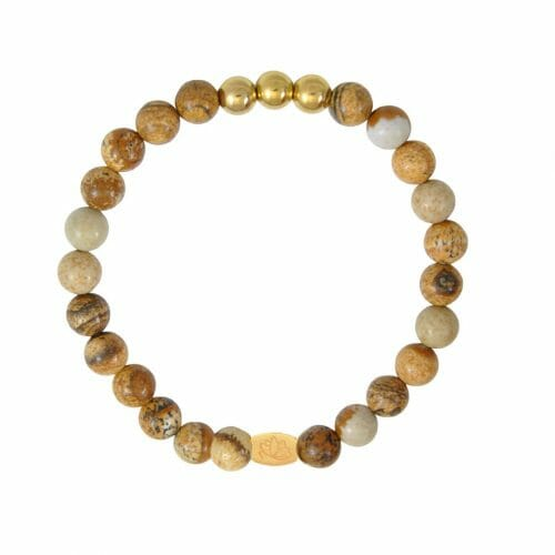 Mas Jewelz 6 mm Picture Jasper Gold