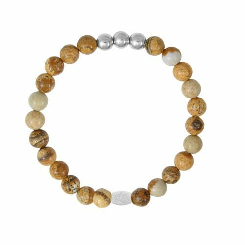 Mas Jewelz 6 mm Picture Jasper Silver