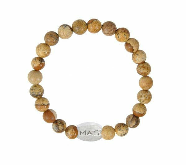 Mas Jewelz Men 8 mm Picture Jasper Model 1