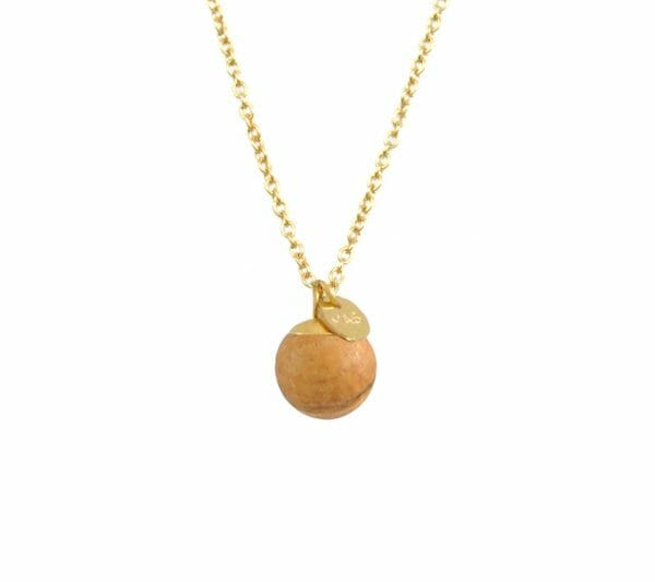 Mas Jewelz necklace Classic Picture Jasper Gold