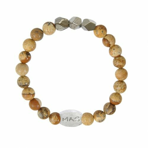 Mas Jewelz Men 8 mm Picture Jasper Model 2