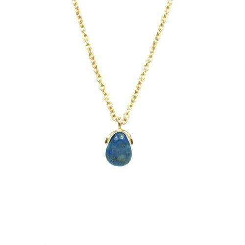 Mas Jewelz necklace Bail Lapis Lazuli Gold