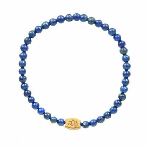 Mas Jewelz 4 mm Lapis Lazuli Model 1 Gold