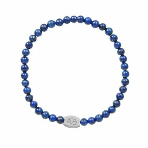 Mas Jewelz 4 mm Lapis Lazuli Model 1 Silver