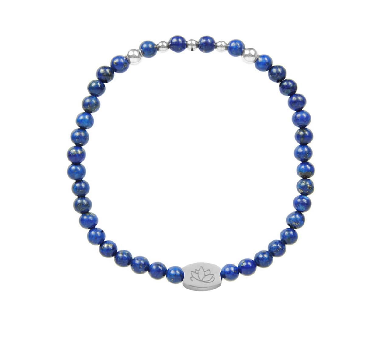 Mas Jewelz 4 mm Lapis Lazuli Model 2 Silver