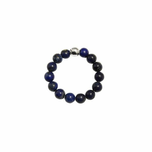 Mas Jewelz Ring 4 mm Lapis Lazuli Model 1 Silver