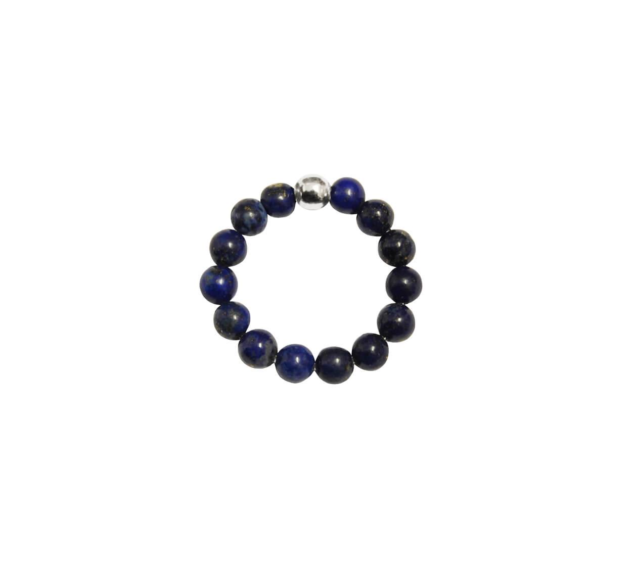 Mas Jewelz Ring 4 mm Lapis Lazuli Model 1 Zilver