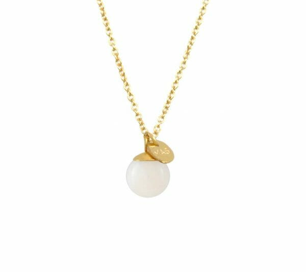 Mas Jewelz necklace Classic Mother of Pearl Gold