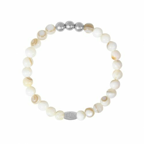 Mas Jewelz 6 mm Mother of Pearl Silver