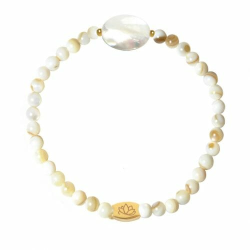 Mas Jewelz Mother of pearl Armband mit Oval Gold