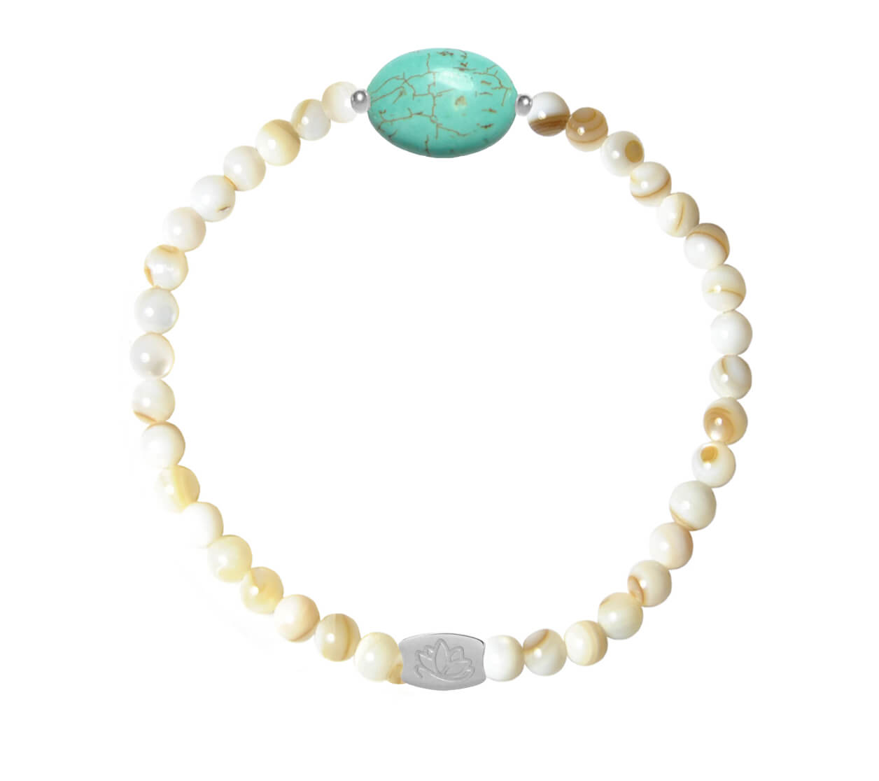 Mas Jewelz Mother of pearl bracelet with oval Silver