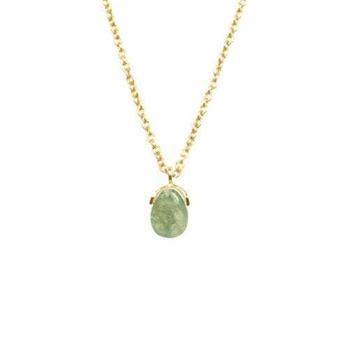 Mas Jewelz necklace Bail Moss Agate Gold