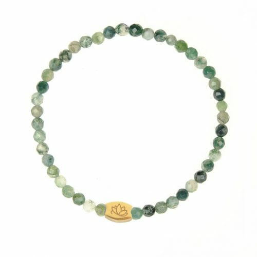 Mas Jewelz Special Facet Moss Agate Model 1 Gold