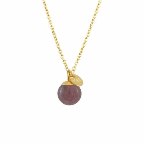 Mas Jewelz necklace Classic Purple Aventurine Gold