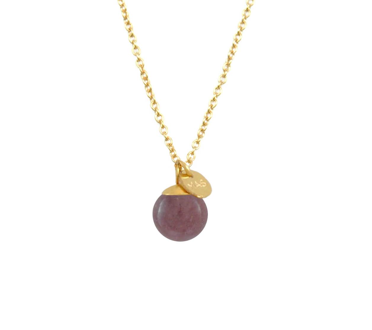 Mas Jewelz necklace Classic Purple Aventurine Gold