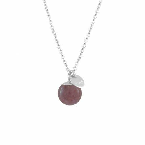 Mas Jewelz necklace Classic Purple Aventurine Silver