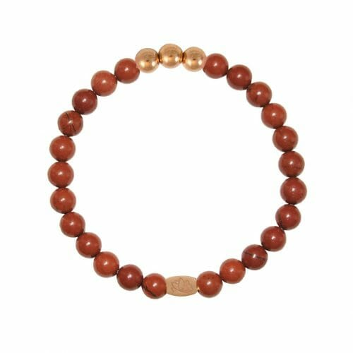 Mas Jewelz 6 mm Red Jasper Rose gold