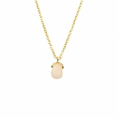Mas Jewelz necklace Bail Pink Opal Gold