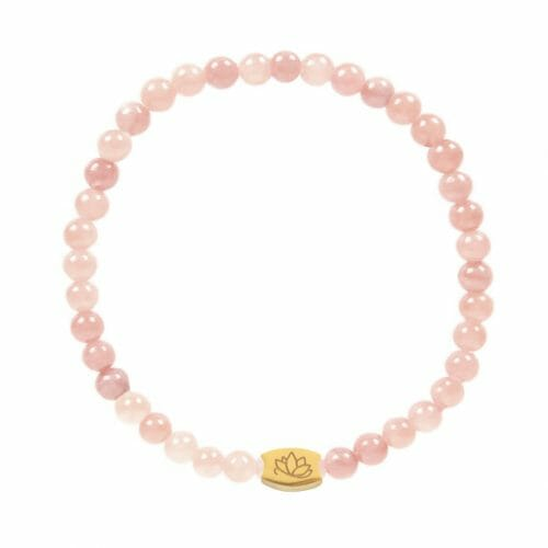 Mas Jewelz 4 mm Pink Opal Model 1 Gold