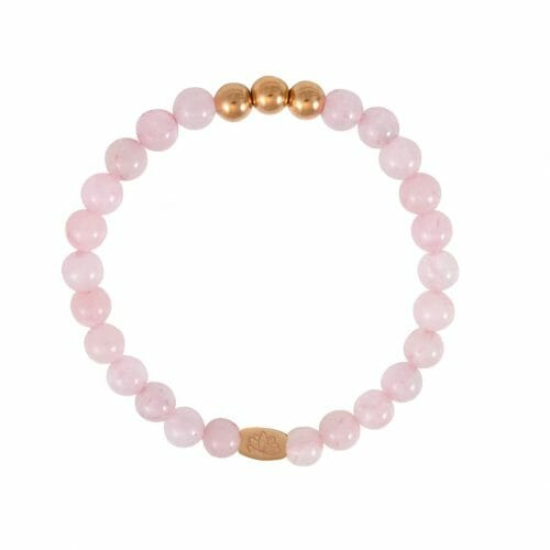 Mas Jewelz 6 mm Rose Quartz Rose gold