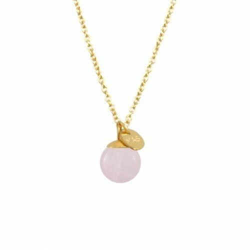 Mas Jewelz necklace Classic Rose Quartz Gold
