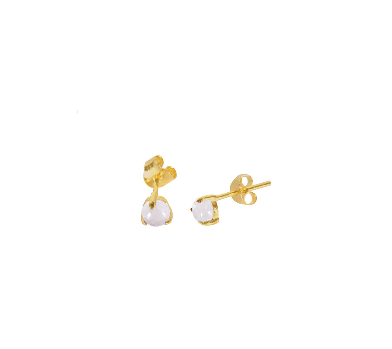 Mas Jewelz Earstuds Light Amethyst Gold
